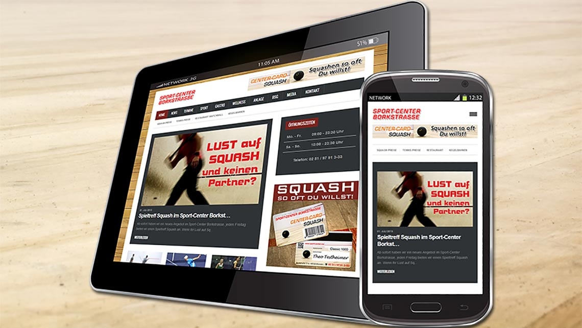 Neue Homepage vom Sport-Center Borkstrasse